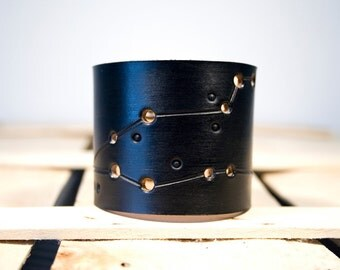 Pisces Leather Wrist Cuff Bracelet