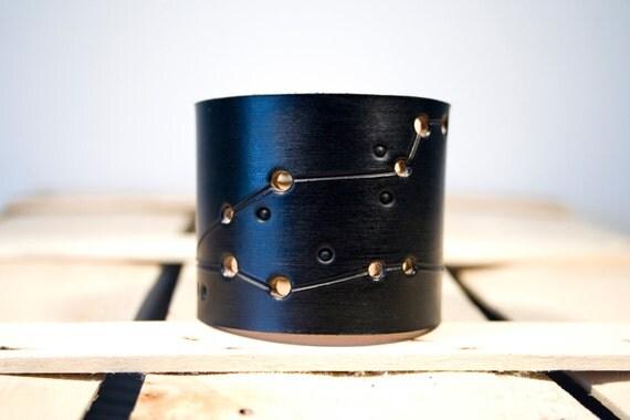 Pisces Leather Wrist Cuff Bracelet