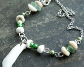 Sea Glass anklet, beach jewelry