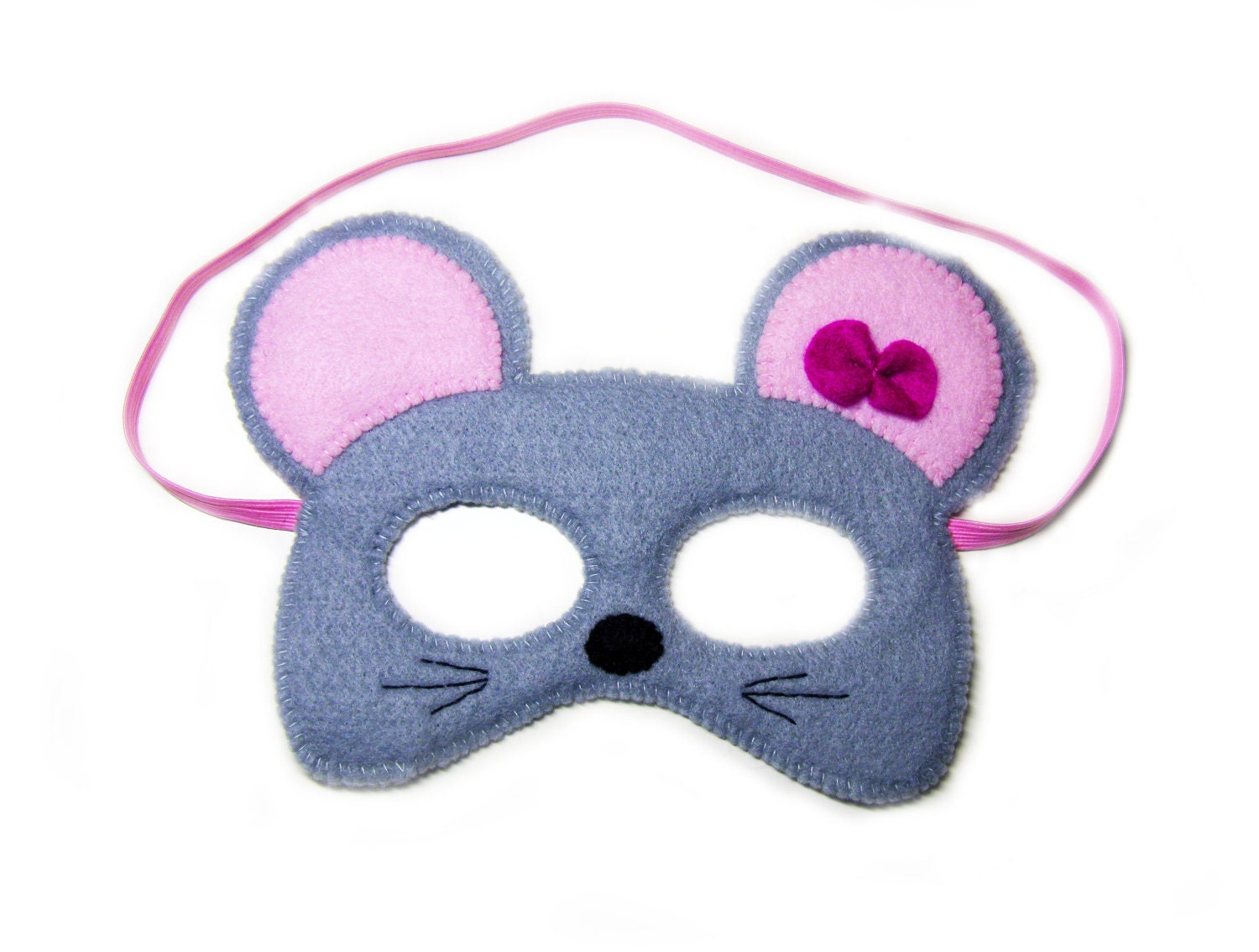 mouse felt mask for kids grey childrens animal costume boys