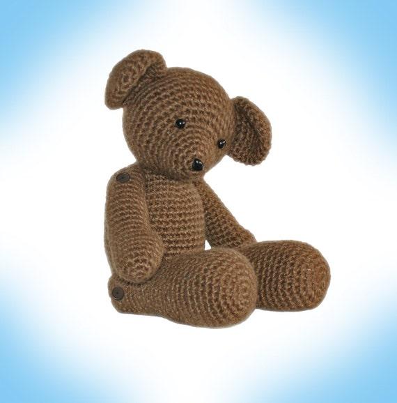 Crochet Pattern-- Teddy the Heirloom Bear --Crochet Pattern
