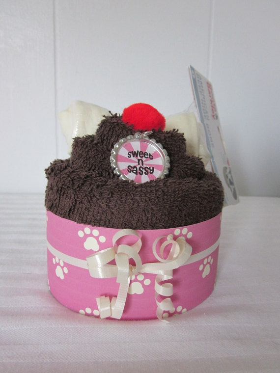 Dog Gift Towel Cupcake