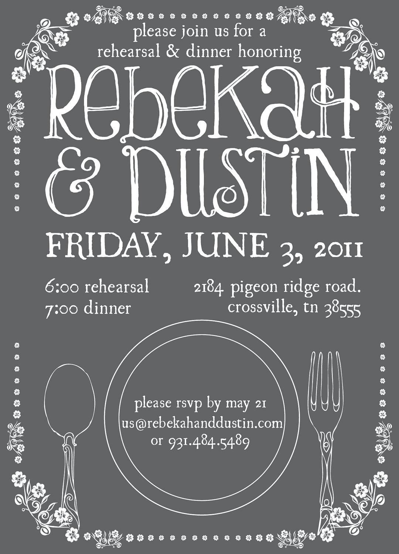 Custom Rehearsal Dinner Invitation Printable