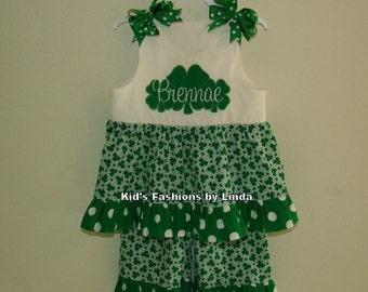 St Patrick Day Twirl Top/Pant Set