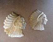Native American Headdress Stampings (2 pc)