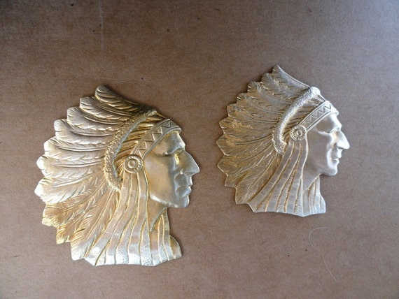 Native American Headdress Stampings (2 pc)