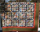 Queen Patchwork Quilt Colorful