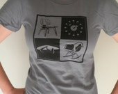 Mid Century Icons Slate American Apparel Woman's T-Shirt