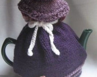 Grandma and Her Cat Tea Cosy - KNITTING PATTERN -  pdf file by automatic download