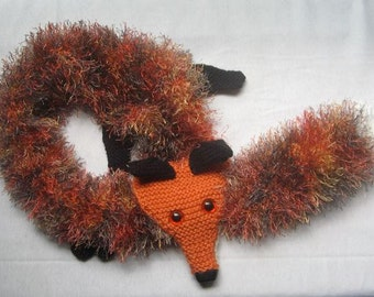 Fox Scarf - KNITTING PATTERN – pdf file by automatic download