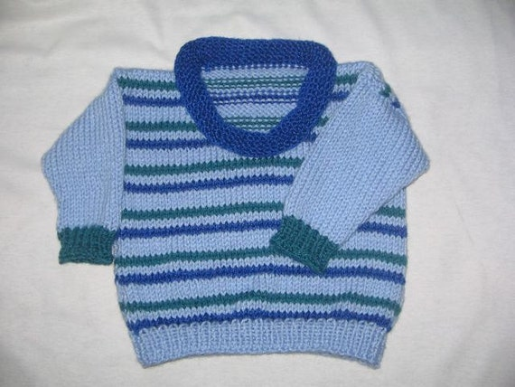 Little Roll-neck Sweater (for babies & toddlers) - KNITTING PATTERN - pdf file by automatic download