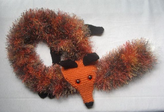 Fox Scarf KNITTING PATTERN pdf file by automatic download