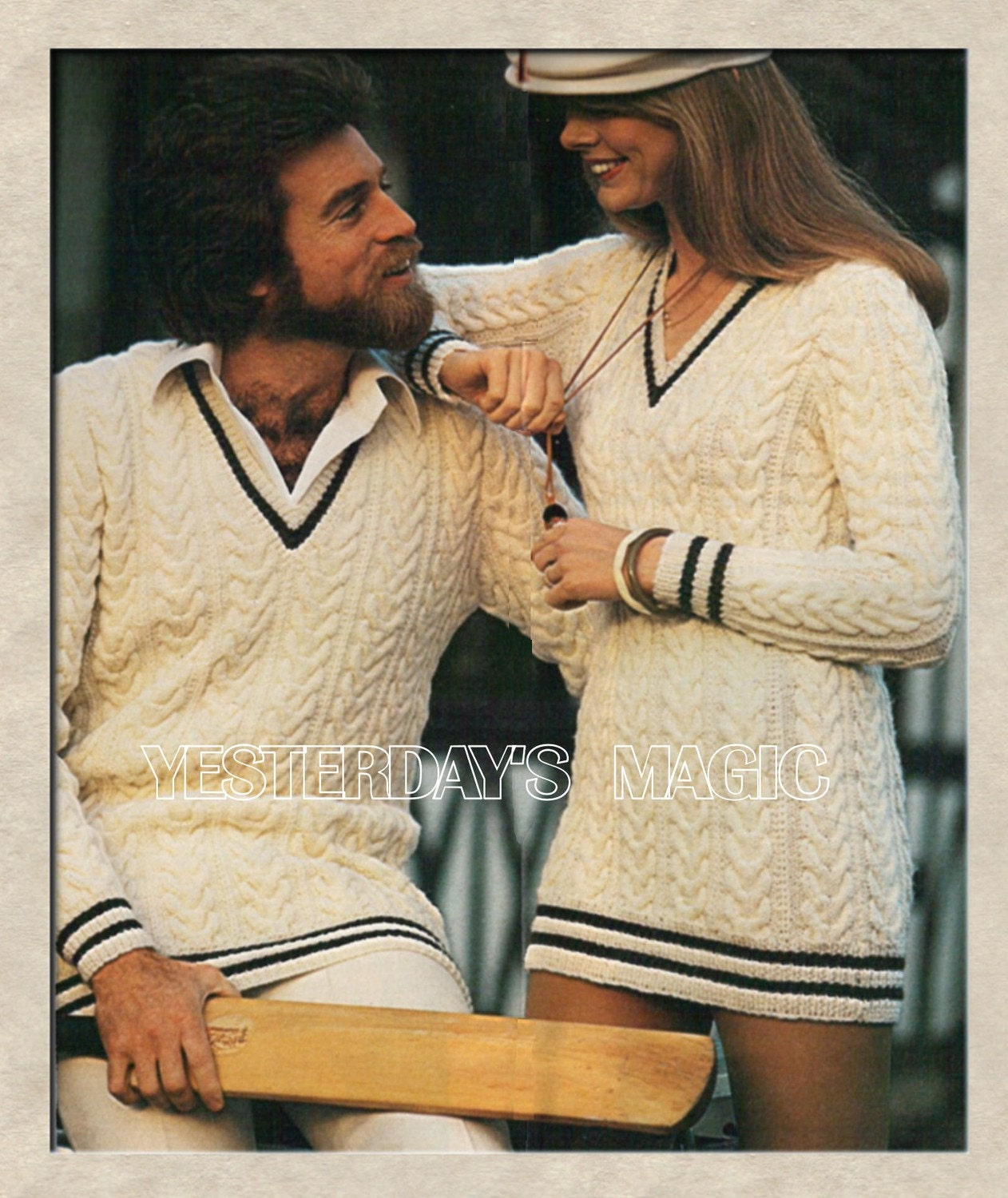 Knitting Pattern For Cricket Sweater : Instant Download PDF Knitting Pattern to make a Tennis Cricket
