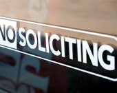 No Soliciting - Vinyl Decal