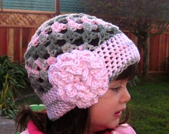 Cute Stuff Beanie crochet hat pattern PDF - easy to make - Instructions to make baby, toddler, kids, adult hats - Instant Digital Download