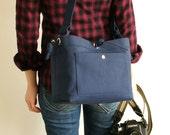 Medium Studio Camera Bag with Inner Flap - water-repellent durable canvas & 6 exterior colors - Navy