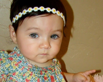 10% OFF ENTIRE ORDER. Itty bitty hippie flower headband, baby headbands, newborn headbands, infant, toddler, adult