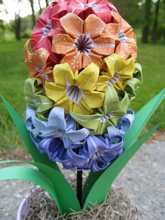 Rainbow Origami Hyacinth. RESERVED listing.