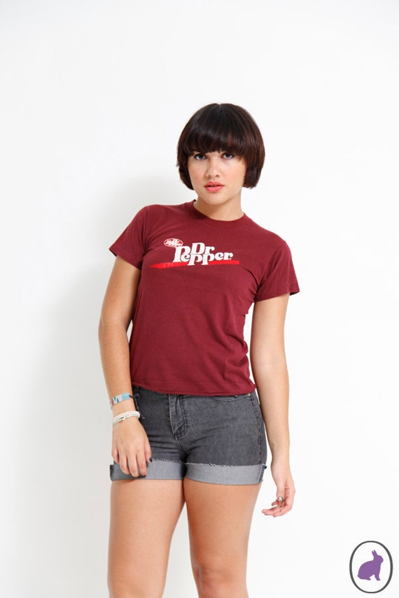 SALE Christmas Present Vintage 80s Dr Pepper T Shirt - Cola - Collectors Item - XS indie Tee shirt