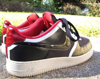 "Hand Painted Nike Air Force 1 Low ""Bulls 2.0"" Custom Sneakers"