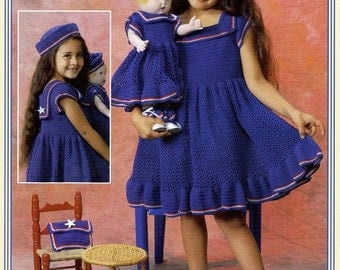 Dresses for Dolly and Me Great for Holiday's American girl doll size dress by Delsie size 2- 6 & 18 inch doll pattern download through Etsy