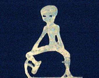 Alien decor, Alien light switch plate, Alien metal art