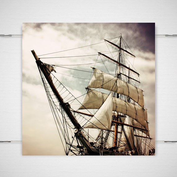 Peter Pan Pirate Ship Photography - 5x5 photograph print - Fantasy fairy tale nursery children's room sinister Gothic 'Pirates' Life For Me'
