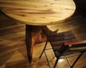 Tree Trunk Stump Table reclaimed wood bistro dining bar table -- CUSTOM ITEM