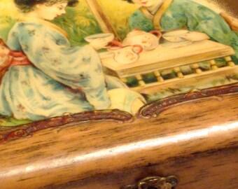Antique Victorian Oriental Vanity Box