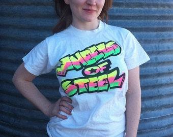 vintage,Teeshirt, hiphop, OOAK, The Get Down, spray paint, DIZ, wheels of steel, Roxy, from Diz Has Neat Stuff