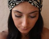 Turban Twist HeadBand- Aztec print