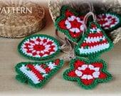 Crochet Pattern - Crochet Christmas Ornaments (Pattern No. 021) - INSTANT DIGITAL DOWNLOAD