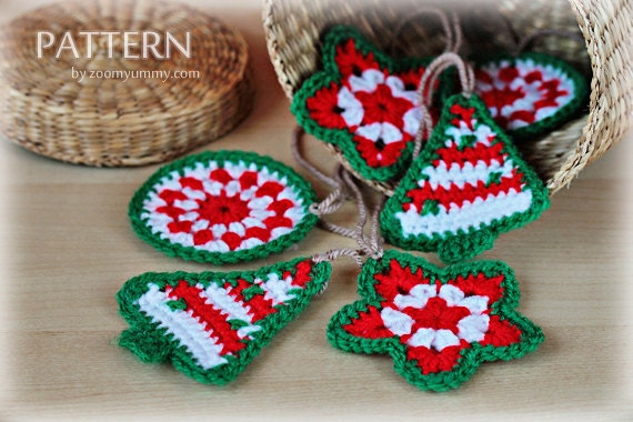 Crochet Pattern - Crochet Christmas Ornaments (Pattern No. 021) - INSTANT DIGITAL DOWNLOAD