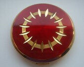 Vintage Stratton Red and Gold Compact