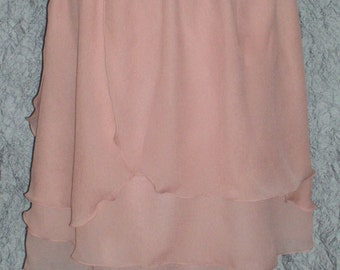Spring Skirt Size Medium to Large Blush Peach Chiffon Skirt or Top