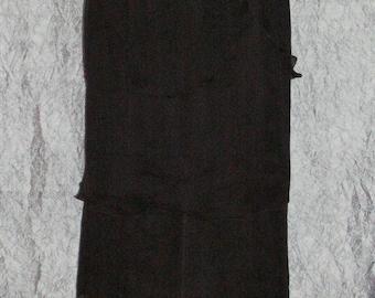 Maxi Skirt Black Crinkle Silk Chiffon Layered Maxi Skirt Black Silk Maxi Skirt Silk Chiffon Black Silk Maxi Skirt