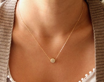 The Original Little Gold Dot Necklace // Gold or Silver