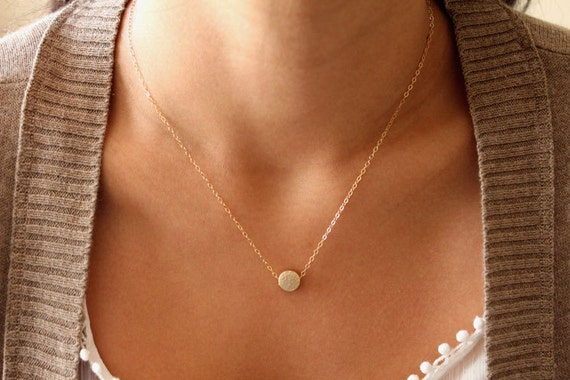 Little Gold Dot Necklace
