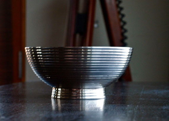 Vintage Silver Pedestal Bowl