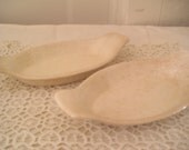 Vintage Agratin Dishes x2 Creamy White