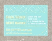 bridal shower invitation - DIY printable file by YellowBrickStudio