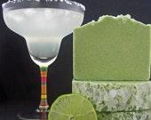 Spa Soap- Lime Margarita Handmade Cold Process Sea Salt Soap