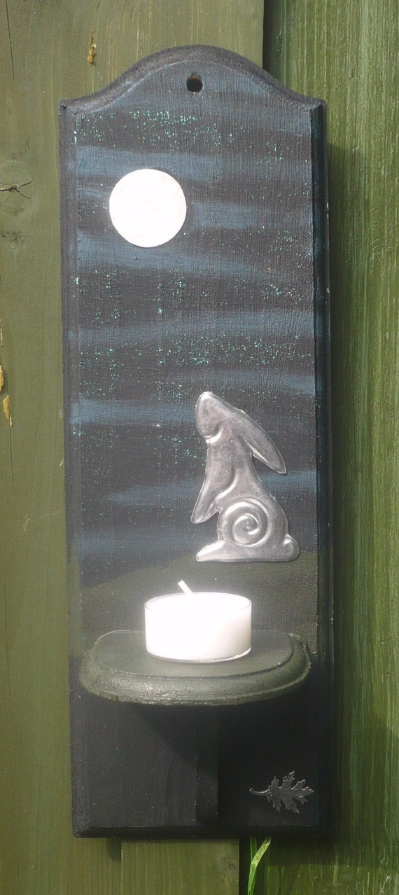 Luna Hare Wall Candle Sconce