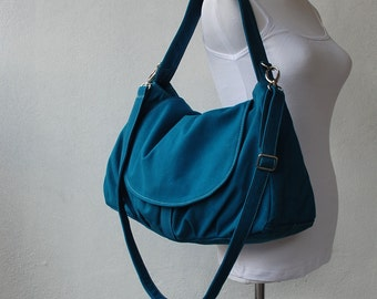 Big SALE SALE - Fortuner, Teal, Messenger Bag, School Bag, Shoulder Bag, Diaper Bag, Women, Gift for Her, 40%