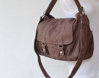New Year SALE 40% / Pico2 in Cinnamon/ Purse / Laptop / Shoulder bag /Diaper Bag/ School Bag/ Women /For Her/ Gift / Travel Bag