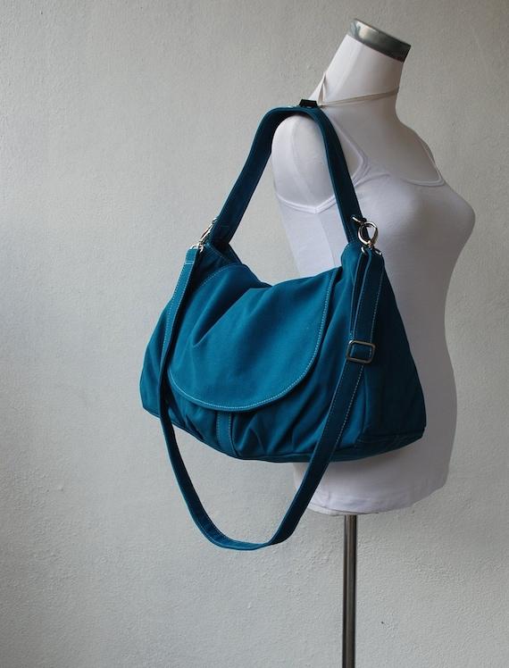 Big SALE SALE - Fortuner, Teal, Messenger Bag, School Bag, Shoulder Bag, Diaper Bag, Women, Gift for Her, 40%