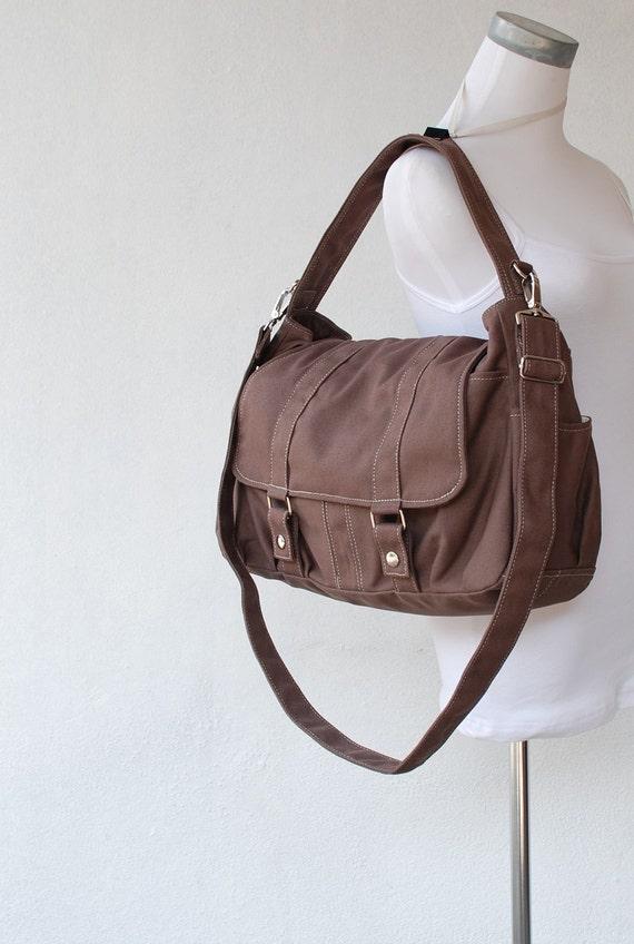 Pico2 in Cinnamon/ Purse / Laptop / Shoulder bag /Diaper Bag/ School Bag/ Women /For Her/ Gift / Hobo Bag / Tote / Travel Bag