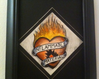 Inflammable Material  - Original - Stiff Little Fingers - Tattoo - Flash