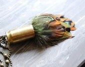 Feathers Bullet Necklace