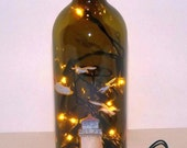Lighthouse Recycled Wine Bottle Accent Lamp/Lite-Great Gift